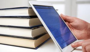 imagem. livros e tablet